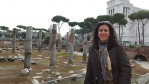 El Foro de Trajano, su paisano. Roma. Noviembre 2015.