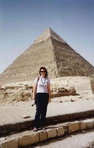 Macarena, en su amado Egipto.