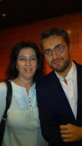 Macarena con el escritor Maxim Huerta.