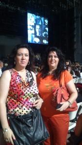 En el concierto de Alejandro Fernández.