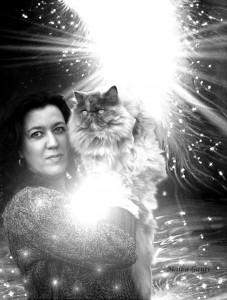 Macarena y su gatita ( con firma)