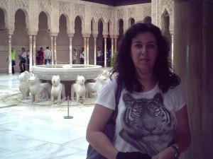 En La Alhambra de Granada.